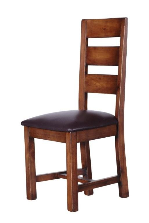 STONEY Dining Chair with Leather Pad Seat