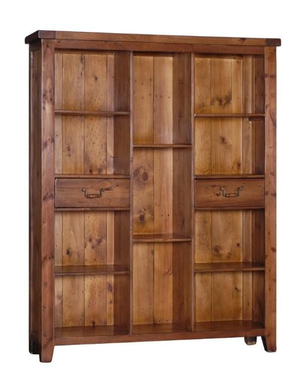 STONEY Large Bookcase with 2 Drawers