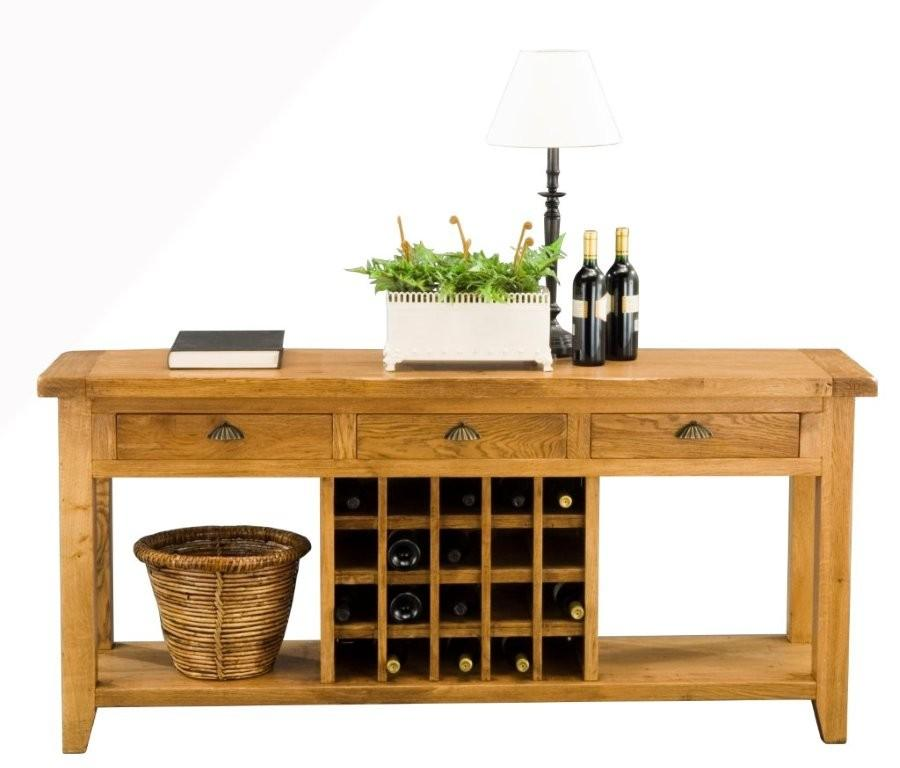 VANCOUVER 3-Drawer Wine Sofa Table