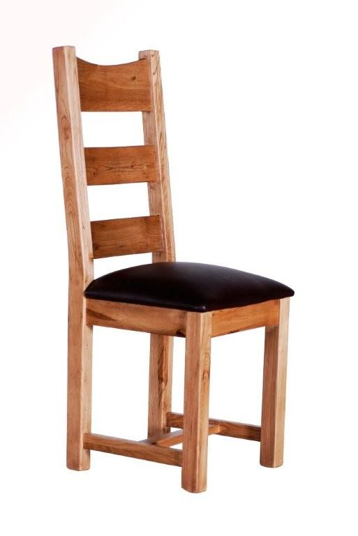 PROVENCE Dining Chair with Leather Pad Seat