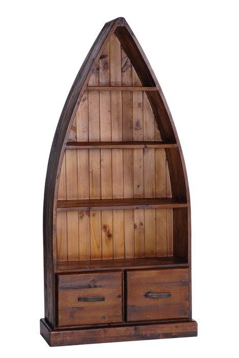 TRINIDAD Boat Dinghy Bookcase with Drawers